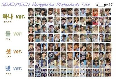 seventeen 7th mini henggarae heng garae official photocards bookmarks pb
