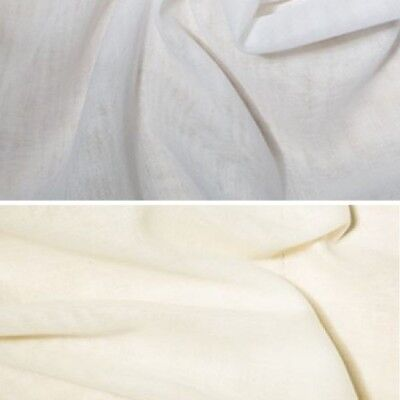 Crafts 100 Cotton Muslin Fabric Voile Curtains Fine Cheese
